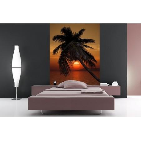 Couché de soleil rouge, impression sur Déco'R,  Imprim'Déco spécialiste du grand format