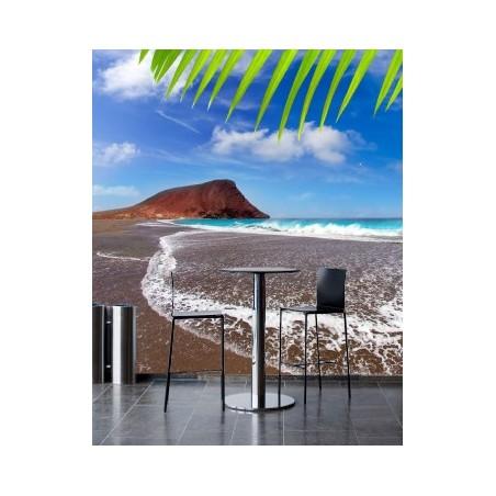 Plage volcanique, impression sur papier intissé,  Imprim'Déco spécialiste du grand format