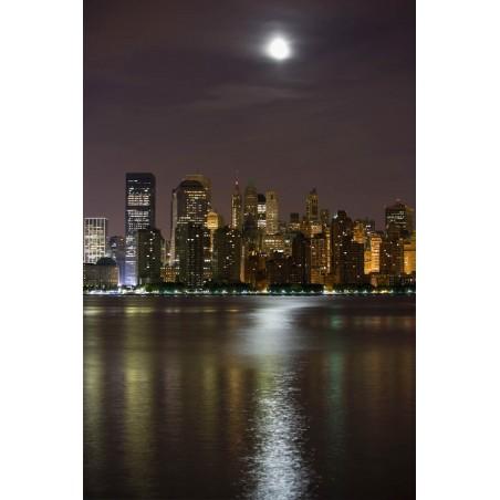 Grattes ciel de nuit, impression sur papier peint intissé, Imprim'Déco spécialiste du grand format