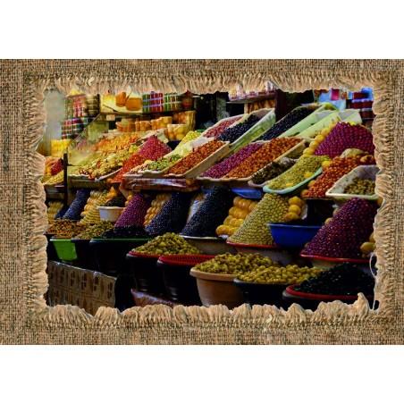 Marché aux olives Marocain, exclusivité de Imprim'Déco, magasin en ligne spécialisé en déco murale
