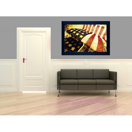 Tableau Banquette USA, exclusivité de Imprim'Déco, magasin en ligne spécialisé en déco murale
