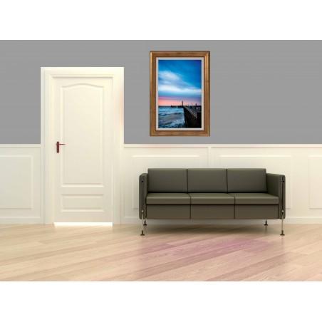Tableau Couché de soleil sur la jetée, exclusivité de Imprim'Déco, magasin en ligne spécialisé en déco murale