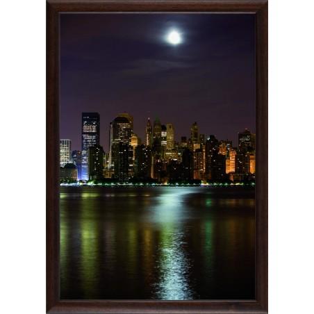 Tableau New York by night, exclusivité de Imprim'Déco, magasin en ligne spécialisé en déco murale