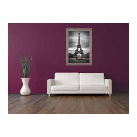Tableau Tour Effeil 2 CV orange, exclusivité de Imprim'Déco, magasin en ligne spécialisé en déco murale