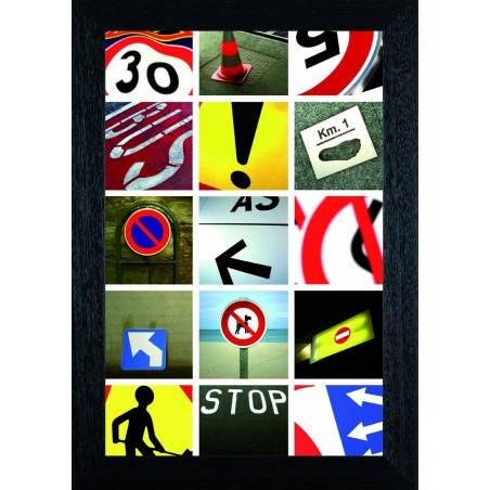 Tableau Panneaux routiers, exclusivité de Imprim'Déco, magasin en ligne spécialisé en déco murale