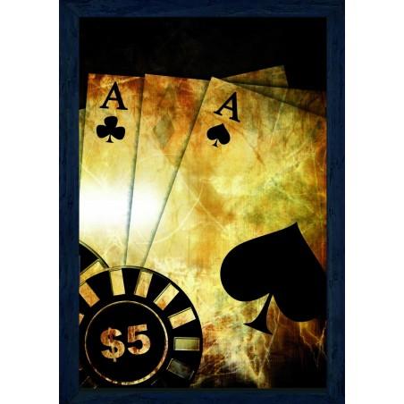 Tableau Poker, exclusivité de Imprim'Déco, magasin en ligne spécialisé en déco murale