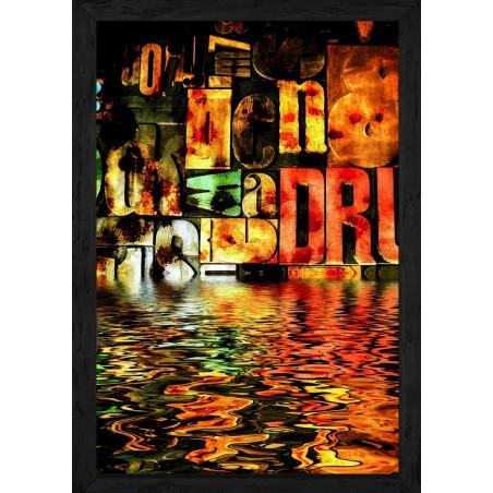 Tableau Rivière de lettres peintes, exclusivité de Imprim'Déco, magasin en ligne spécialisé en déco murale