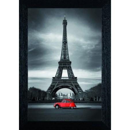 Tableau Tour Effeil 2 CV rouge, exclusivité de Imprim'Déco, magasin en ligne spécialisé en déco murale