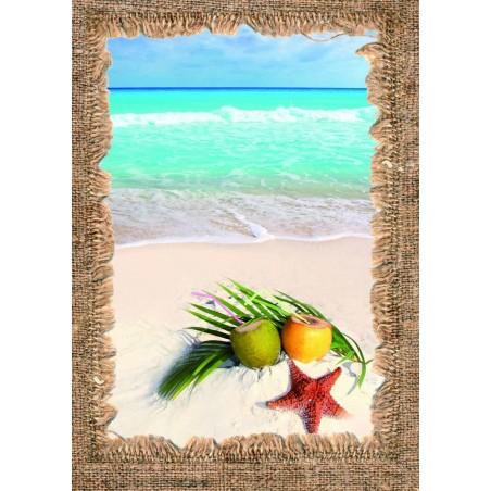 Tableau Plage tropicale, exclusivité de Imprim'Déco, magasin en ligne spécialisé en déco murale