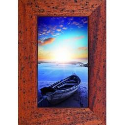 Tableau Barque sur la plage au couché de soleil