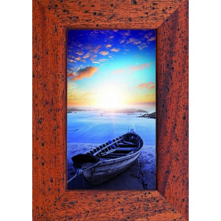 Tableau Barque sur la plage au couché de soleil, exclusivité de Imprim'Déco, magasin en ligne spécialisé en déco murale