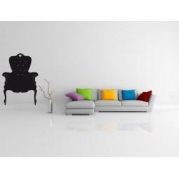 Sticker mural fauteuil