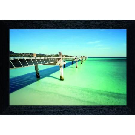 Tableau Ponton des lagons, exclusivité de Imprim'Déco, magasin en ligne spécialisé en déco murale