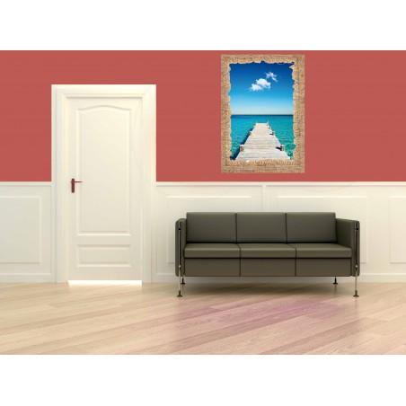 Tableau Ponton de bois, exclusivité de Imprim'Déco, magasin en ligne spécialisé en déco murale