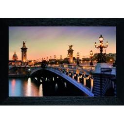 Tableau Pont de Paris la nuit
