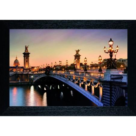 Tableau Pont de Paris la nuit, exclusivité de Imprim'Déco, magasin en ligne spécialisé en déco murale