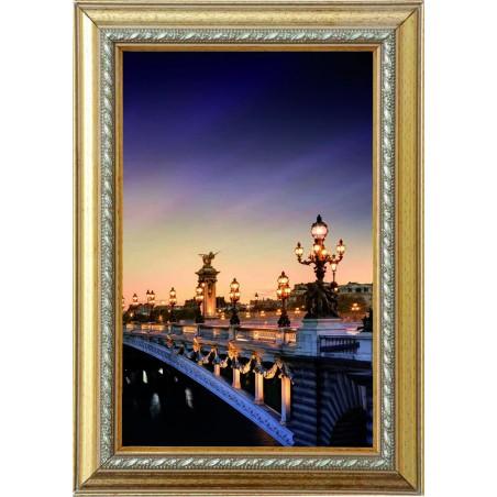 Tableau Pont de Paris la nuit 2, exclusivité de Imprim'Déco, magasin en ligne spécialisé en déco murale