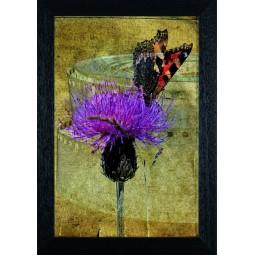 Tableau Papillon sur une fleur 5