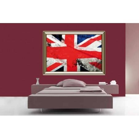 Tableau Union Jack 2, exclusivité de Imprim'Déco, magasin en ligne spécialisé en déco murale