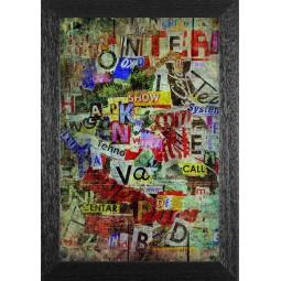 Tableau Grunge, exclusivité de Imprim'Déco, magasin en ligne spécialisé en déco murale