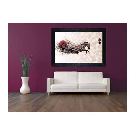Tableau Zèbre nuage, exclusivité de Imprim'Déco, magasin en ligne spécialisé en déco murale