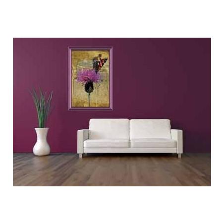 Tableau Papillon sur une fleur 6, exclusivité de Imprim'Déco, magasin en ligne spécialisé en déco murale