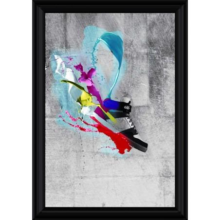 Tableau Basket couleurs, exclusivité de Imprim'Déco, magasin en ligne spécialisé en déco murale