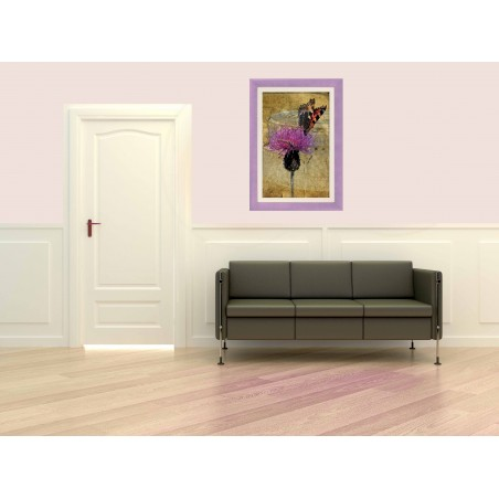 Tableau Papillon sur une fleur 7, exclusivité de Imprim'Déco, magasin en ligne spécialisé en déco murale