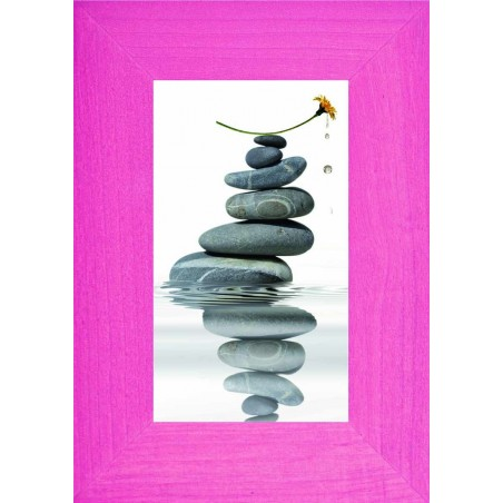 Tableau Pile de galets et fleur 3, exclusivité de Imprim'Déco, magasin en ligne spécialisé en déco murale