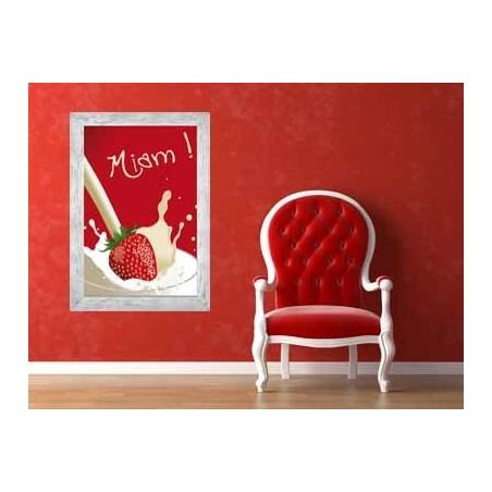 Tableau Fraise à la crème, exclusivité de Imprim'Déco, magasin en ligne spécialisé en déco murale