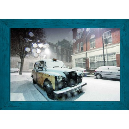 Tableau Neige à Londres, exclusivité de Imprim'Déco, magasin en ligne spécialisé en déco murale