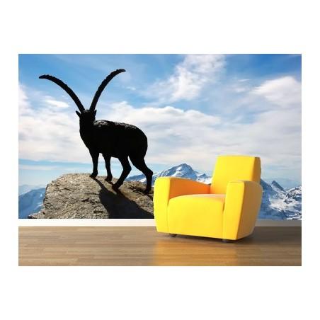 Chamois en haut de la montagne , impression sur Déco'R,  Imprim'Déco spécialiste du grand format