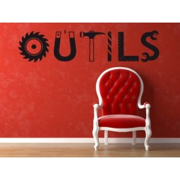 Sticker mural outils
