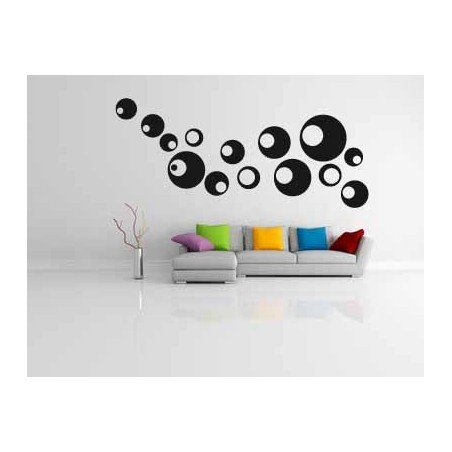 Sticker mural bulles