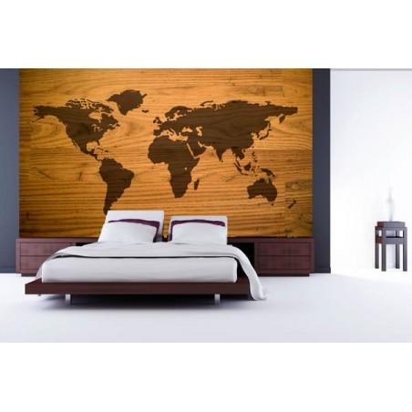 Mappe monde , impression sur Déco'R,  Imprim'Déco spécialiste du grand format