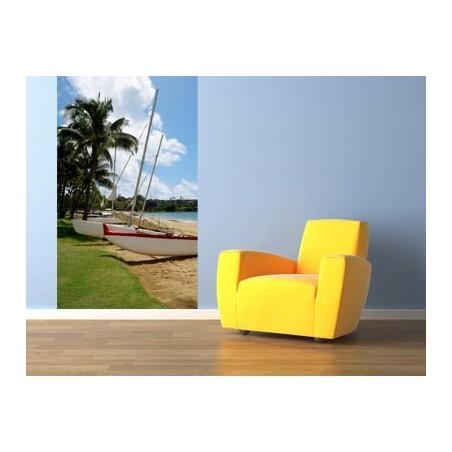 Voiliers sur la plage , impression sur Déco'R,  Imprim'Déco spécialiste du grand format