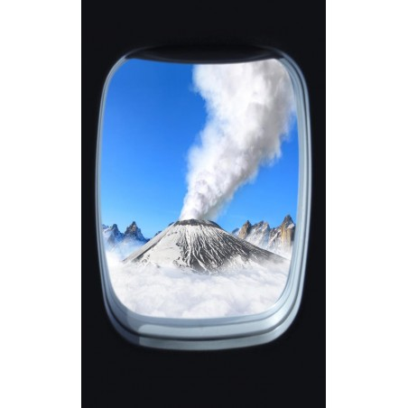Volcan en eruption, impression sur Déco'R, Imprim'Déco spécialiste du grand format
