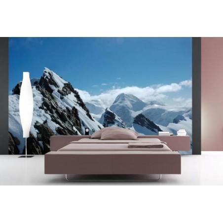 Alpes en hiver, impression sur Déco'R, Imprim'Déco spécialiste du grand format