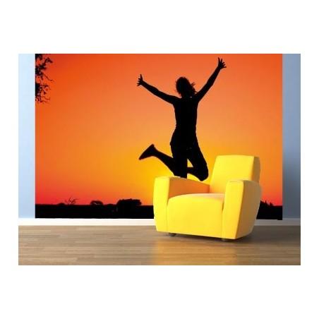 Danseuse dans ciel rouge, impression sur Déco'R, Imprim'Déco spécialiste du grand format