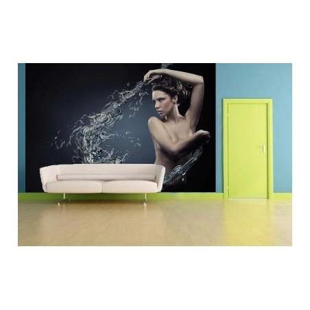 Nu qui danse avec l'eau, impression sur Déco'R, Imprim'Déco spécialiste du grand format
