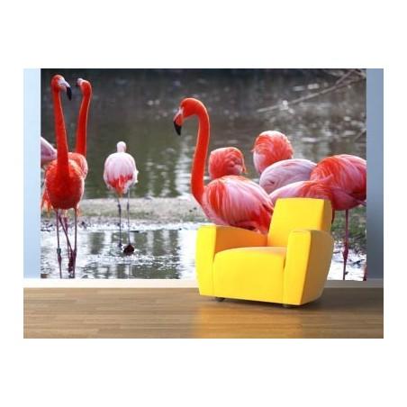 Flamants roses dans l'eau, impression sur Déco'R, Imprim'Déco spécialiste du grand format