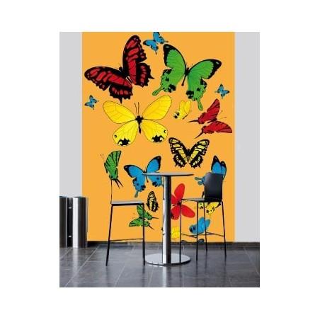 Papillons multicolors, impression sur Déco'R, Imprim'Déco spécialiste du grand format