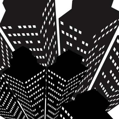 Immeuble noirs, impression sur Déco'R, Imprim'Déco spécialiste du grand format
