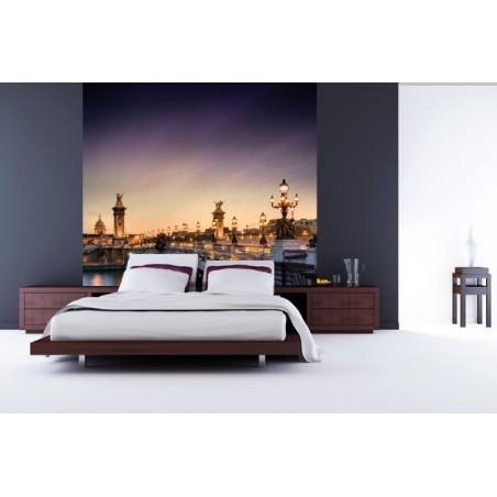 Pont de Paris la nuit, impression sur papier peint intissé, Imprim'Déco spécialiste du grand format