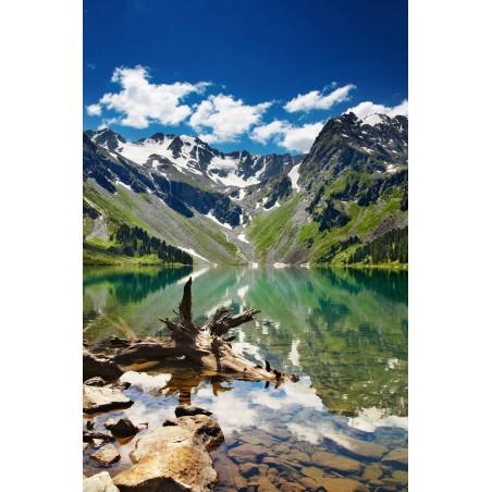 Lac de montagne et reflets 2, impression sur papier peint intissé, Imprim'Déco spécialiste du grand format