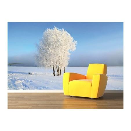 Campagne en hiver, impression sur papier peint intissé, Imprim'Déco spécialiste du grand format