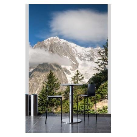 Sommet des Alpes dans les nuages, impression sur papier peint intissé, Imprim'Déco spécialiste du grand format