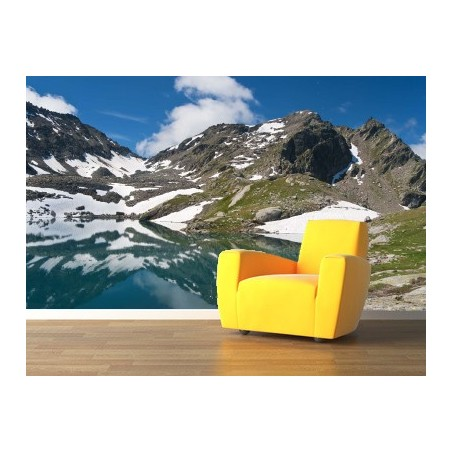 Lac des Alpes, impression sur papier peint intissé, Imprim'Déco spécialiste du grand format