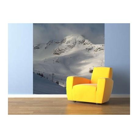Alpes enneigées, impression sur papier peint intissé, une exclusivité de Imprim'Déco spécialiste du grand format