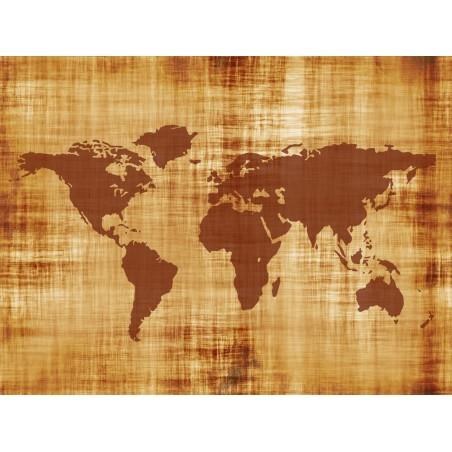 Vieille mappemonde, impression sur papier peint intissé, Imprim'Déco spécialiste du grand format